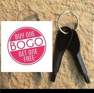 Screw driver keychain set